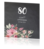 80 Jaar Uitnodiging Maken Tachtig