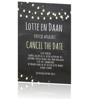 Cancel the date kaart feest