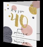 uitnodiging maken 40 jaar getrouwd 40 jaar getrouwd huwelijks kaarten maken   veertig uitnodiging maken 40 jaar getrouwd