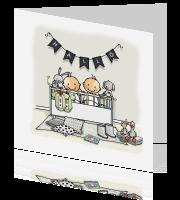 Geboortekaartjes tweeling ontwerpen en bestellen for Tweeling ledikant
