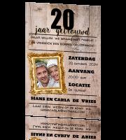 Ongebruikt Uitnodiging 20 jaar getrouwd VM-96