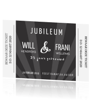 jubileum kaart ticket hollywood look