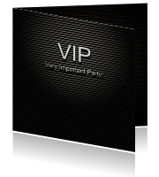 Uitnodiging VIP letterbord
