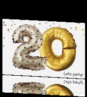 Hippe Verjaardag Uitnodiging 20 Jaar