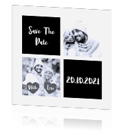 Save the date kerstkaart met foto collage