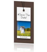 Save the date voor een met label en foto