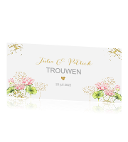 Save the Date lotusbloemen