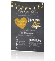 Super hippe uitnodiging high tea