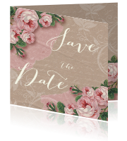 Save the Date vintage rozen