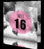 Uitnodiging 16e Verjaardag Ballonen