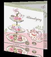 Verrassend Uitnodiging high tea feest vrouwen IF-58