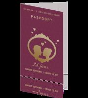 Verwonderend Uitnodiging huwelijkjubileum feest 25 jaar als paspoort idee BS-24