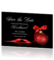 Uitnodiging kerstborrel save the date