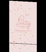 Verwonderlijk Leuke uitnodiging kinderfeestje meisje in roze met confetti CF-36