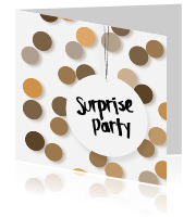 Uitnodiging surprise party met stippen