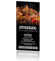 Uitnodiging ticket barbecue bbq feestje