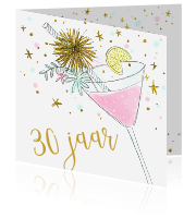Uitnodiging 30e vrjaardag cocktail hip