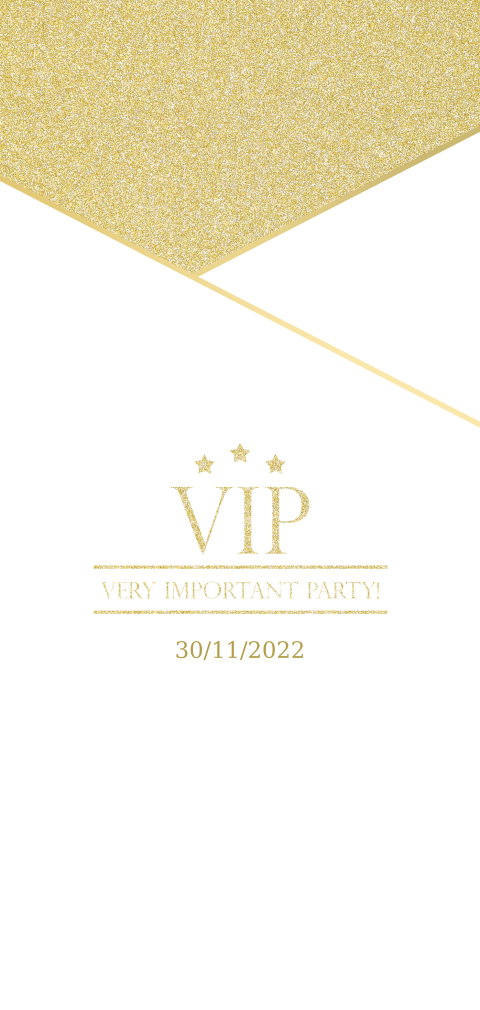 Feest VIP ticket Gold and White
