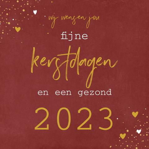 Kerstkaart Corona wensen een normaal 2021