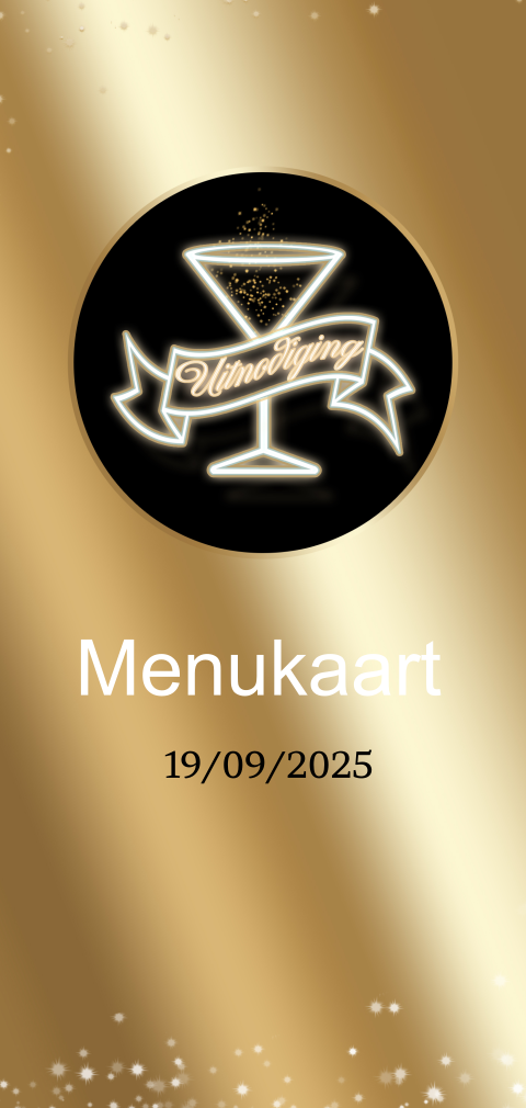 Uitnodiging menukaart Golden ticket