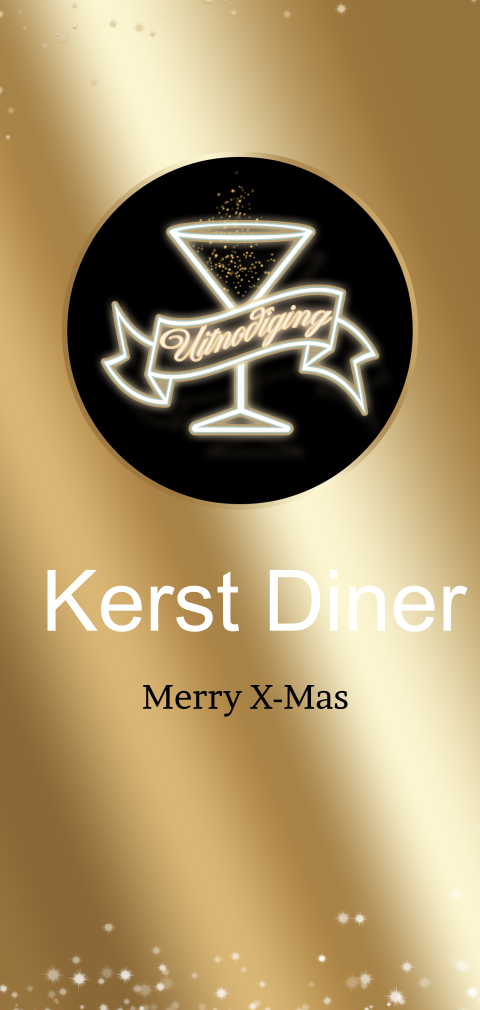 Uitnodiging kerstdiner Golden ticket VIP