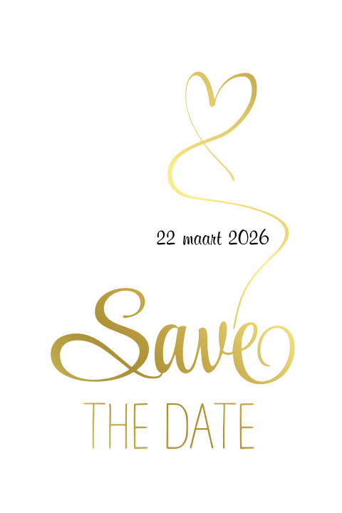 Save the Date kaart Goudfolie