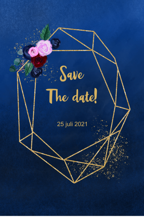 Save the date rozen blue