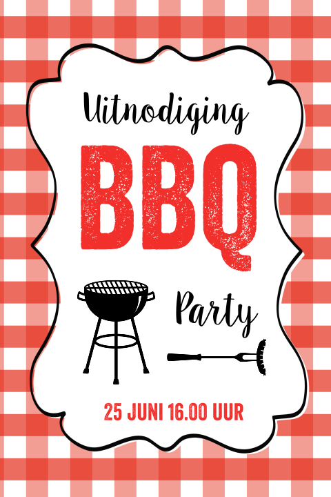 Uitnodiging Barbecue Party