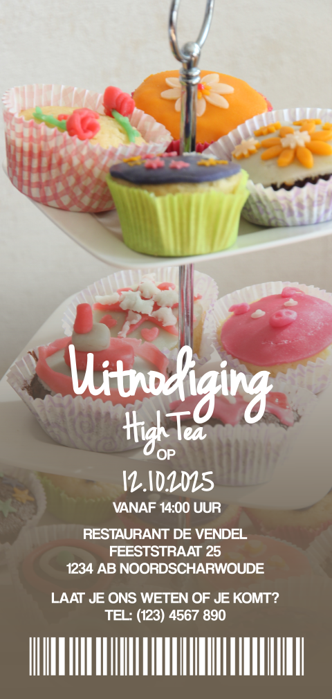 Uitnodiging ticket high tea