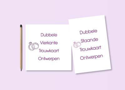 trouwkaart zelf ontwerpen