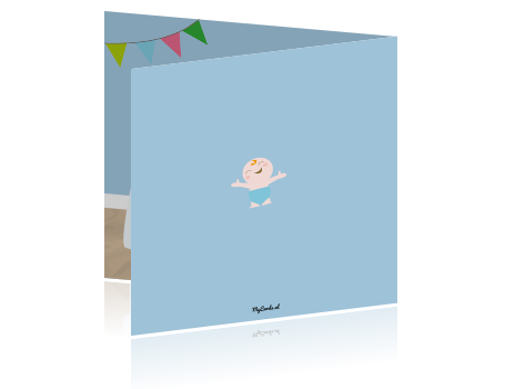 Geboortekaartjes kinderkamer jongen