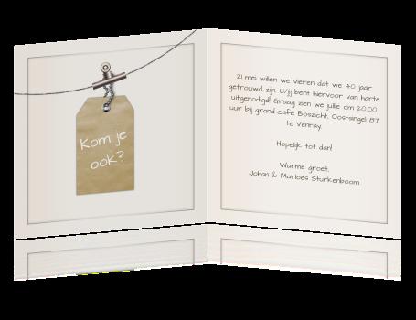 voorbeeld uitnodiging 40 jaar Tekst Op Uitnodiging 40 Jaar Getrouwd   ARCHIDEV voorbeeld uitnodiging 40 jaar