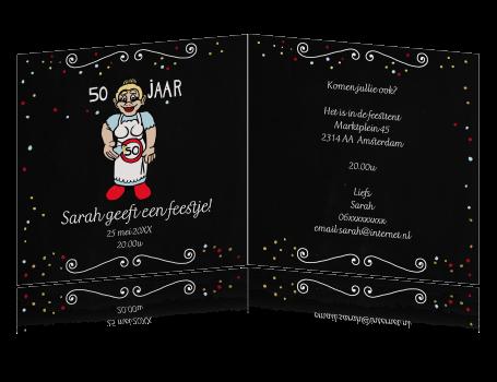 Goede Uitnodiging 50ste verjaardag Sarah pop OB-47