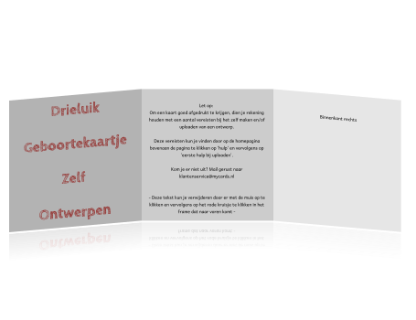 Drieluik geboortekaartje zelf ontwerpen zelf een drieluik geboortekaartje ontwerpen start met dit lege ontwerp in onze online kaartenmaker reheart Image collections