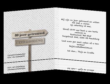 voorbeelden kaarten 40 jaar getrouwd Voorbeeld Kaart 40 Jaar Getrouwd   ARCHIDEV voorbeelden kaarten 40 jaar getrouwd