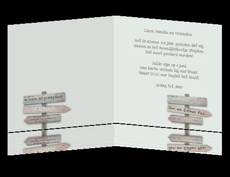 uitnodiging 40 jarig dienstjubileum Uitnodiging 40 jarig jubileum feest met houten borden vierkant uitnodiging 40 jarig dienstjubileum