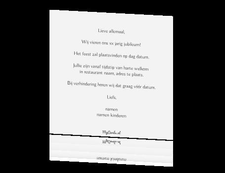 50 jaar getrouwd tekst kaart Uitnodiging 25 Jaar Getrouwd Tekst   ARCHIDEV 50 jaar getrouwd tekst kaart