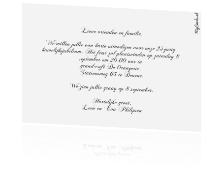 uitnodiging teksten 25 jaar getrouwd 25 Jaar Getrouwd Kaart Tekst   ARCHIDEV uitnodiging teksten 25 jaar getrouwd