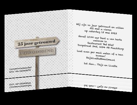 uitnodiging teksten 25 jaar getrouwd Voorbeeld Kaart 25 Jaar Getrouwd   ARCHIDEV uitnodiging teksten 25 jaar getrouwd