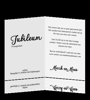 Uitnodiging 25 Jarig Jubileum Kleurplaat Kaart Bladerdek