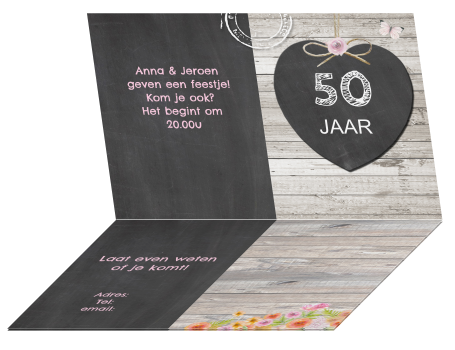 Uitnodiging 50 Jarig Huwelijk