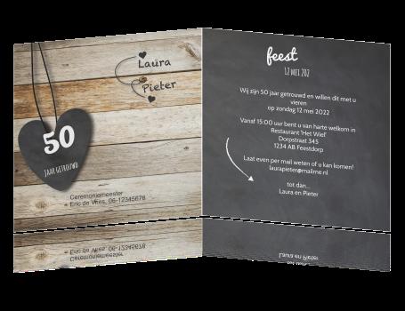 uitnodiging kaart 50 jaar Uitnodiging feestje huwelijksjubileum 50 jaar getrouwd uitnodiging kaart 50 jaar