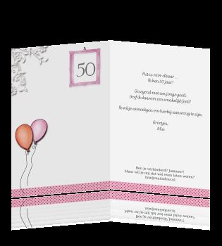 Fabulous Vrolijke uitnodiging verjaardag 50 jaar vrouw Sarah #RE67