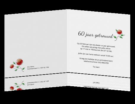 60 jarig huwelijk uitnodiging Uitnodiging 60 Jaar Getrouwd   ARCHIDEV 60 jarig huwelijk uitnodiging