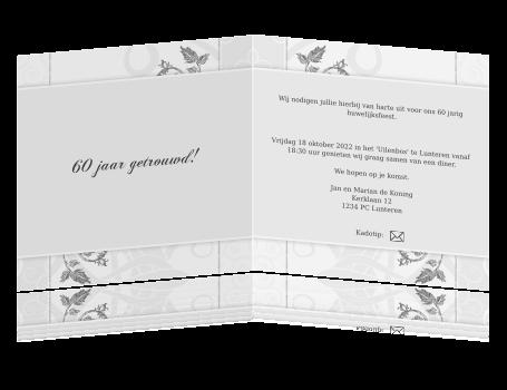 60 jaar getrouwd tekst kaart Tekst Kaartje 60 Jaar Getrouwd   ARCHIDEV 60 jaar getrouwd tekst kaart