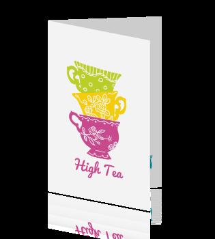 Zeer Uitnodiging High tea maken &SY55