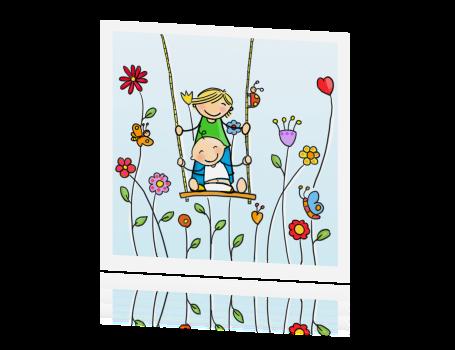 Super Geboortekaartje voor een tweede kindje ontwerpen en maken @FR27