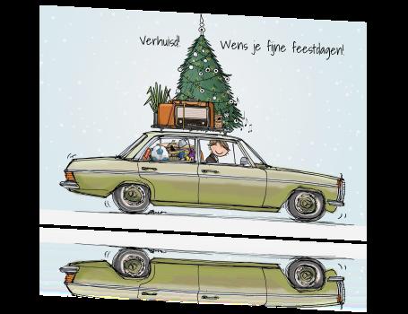 Vrolijke Kerst Verhuiskaart Maken Met Mercedes