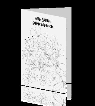 kleurplaat bloemetjes gekleurd