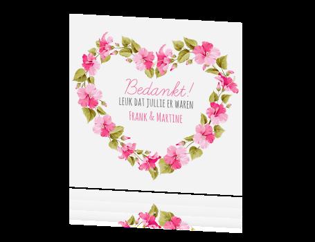 Bekend Bedankkaartjes bruiloft - Bedankjes bruiloft maken #FM14